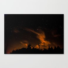 blurry night Canvas Print