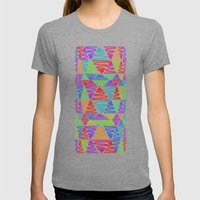 Neon Pillar Womens Fitted Tee Tri-Grey SMALL
