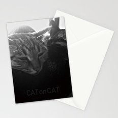 Cat on Cat Stationery Cards