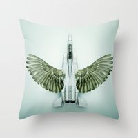 Mutant Plane Throw Pillow