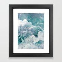 Abstract Winter Landscap… Framed Art Print