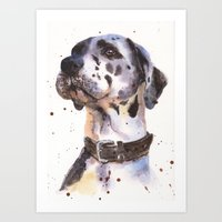 Great Dane, Dog Art, Wat… Art Print
