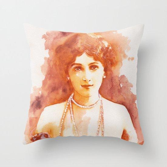 Perls Throw Pillow