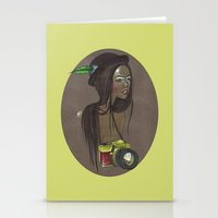 Girl with Photo Camera Stationery Cards