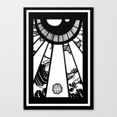 EL MAR LAS NUVES Y UN OJO Canvas Print