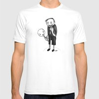 2 faced Mens Fitted Tee White SMALL