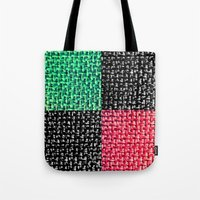 Fabric Colorblock Tote Bag