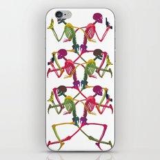 Running Skeleton with Banana n Gun iPhone & iPod Skin