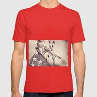 D-Fly Draw Mens Fitted Tee Red SMALL
