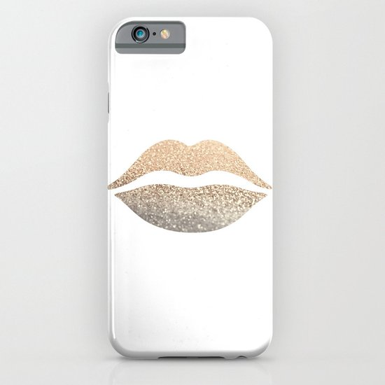 GOLD LIPS iPhone & iPod Case