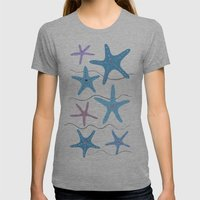 Lady At The Window Womens Fitted Tee Athletic Grey SMALL