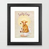 Holy Cow! Framed Art Print