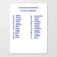 International Alphabet Canvas Print