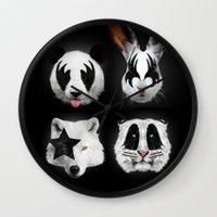 Kiss Of Animals Wall Clock
