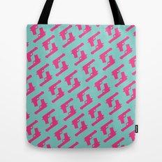 Mint and pink guns Tote Bag