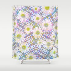 Daisy Plaid Shower Curtain