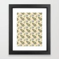 Herb Pattern Framed Art Print