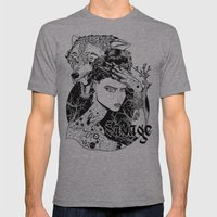 Be one with the wild Mens Fitted Tee Athletic Grey SMALL