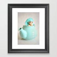 Living in a Teapot Framed Art Print