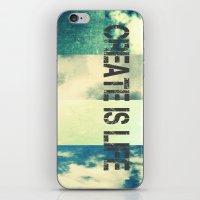 CREATE IS LIFE iPhone & iPod Skin