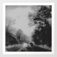 Art Print featuring Winter road by Dnzsea