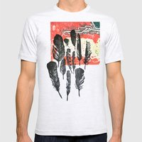 Feathers Mens Fitted Tee Ash Grey SMALL