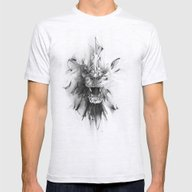 STONE LION Mens Fitted Tee Ash Grey SMALL