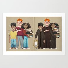 Dorky Kids Go To Private School Art Print