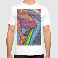 Tasty Waves Mens Fitted Tee White SMALL