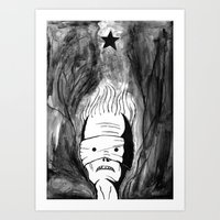 Lazarus 1 - Bowie Blackstar tribute - version Art Print