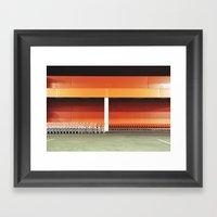 Carts In Night Framed Art Print