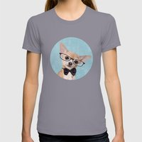 Mr. Chihuahua Womens Fitted Tee Slate SMALL