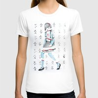 Sliced Womens Fitted Tee White SMALL