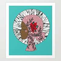 Goddess Mandala Art Print