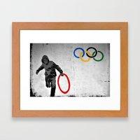 Banksy Olympic Rings Framed Art Print