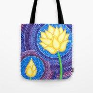 Dreamy Lotus Family Tote Bag