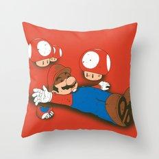 Tragic Ending-red Throw Pillow