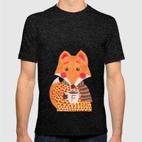 Winter Season is Coming (Fox Version) Mens Fitted Tee Tri-Black SMALL
