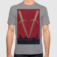 *V*  Mens Fitted Tee Athletic Grey SMALL