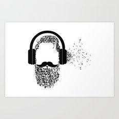 Beard The Music Art Print