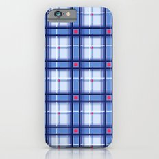 Blue Plaid Slim Case iPhone 6s