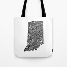 Typographic Indiana Tote Bag
