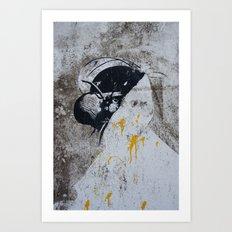 Graffiti Woman Art Print