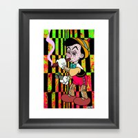 I DON'T THINK IM REAL. Framed Art Print