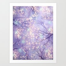Each Moment of the Year Has It's Own Beauty (Tree Silhouettes) Art Print