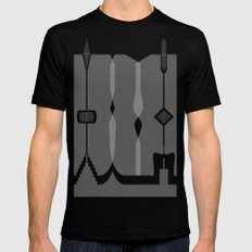 Asymmetry 1 Mens Fitted Tee Black SMALL
