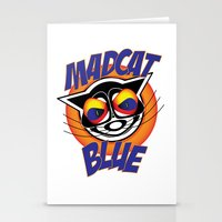 MadCat Blue Stationery Cards