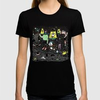 Buenos Deseos Womens Fitted Tee Black SMALL