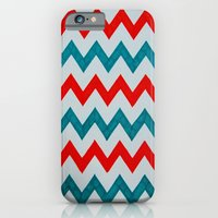 Red and Teal Chevron  iPhone 6 Slim Case
