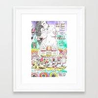 Roller Derby Devils 3000 Framed Art Print